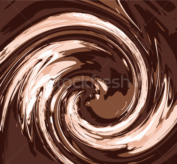 Vecteur chocolat tourbillon couleur séparé Photo stock © freesoulproduction