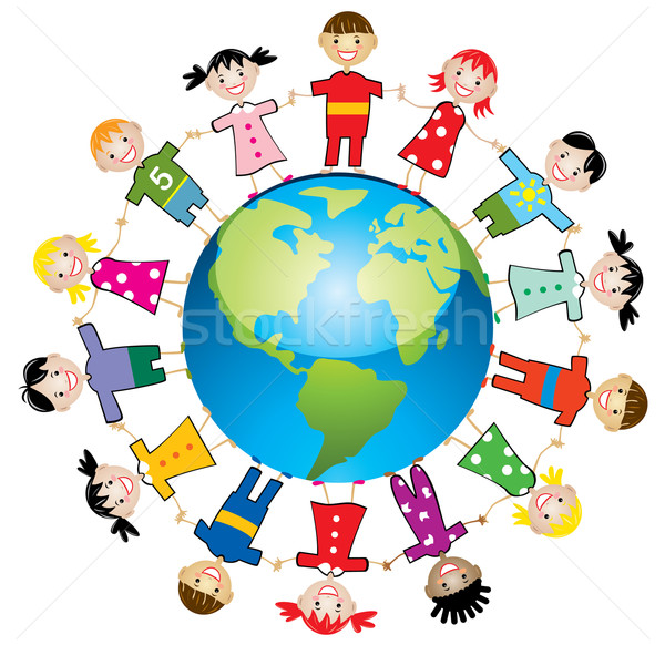 Stock photo: vector children around the world