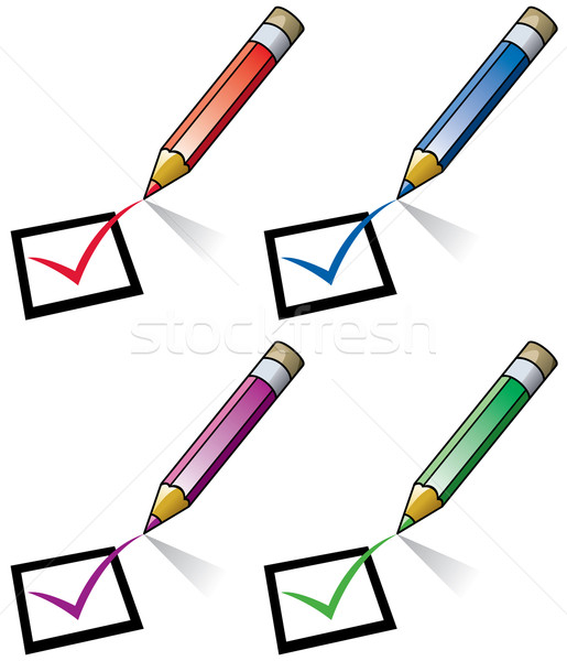 vector pencils and checklist  Stock photo © freesoulproduction