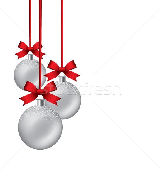Wektora nowy rok wiszący szczęśliwy Zdjęcia stock © freesoulproduction