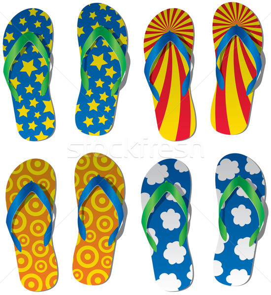 colorful flip flops Stock photo © freesoulproduction
