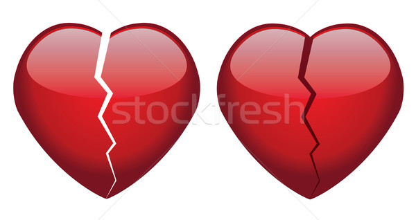 vector broken hearts Stock photo © freesoulproduction