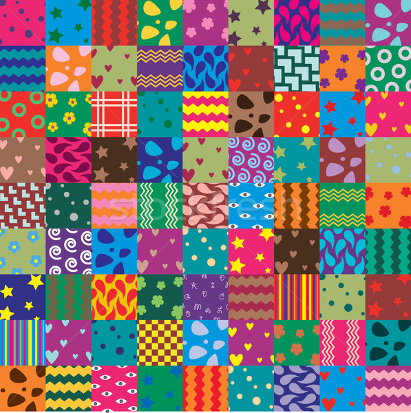 vector patchwork fabric art background Stock photo © freesoulproduction