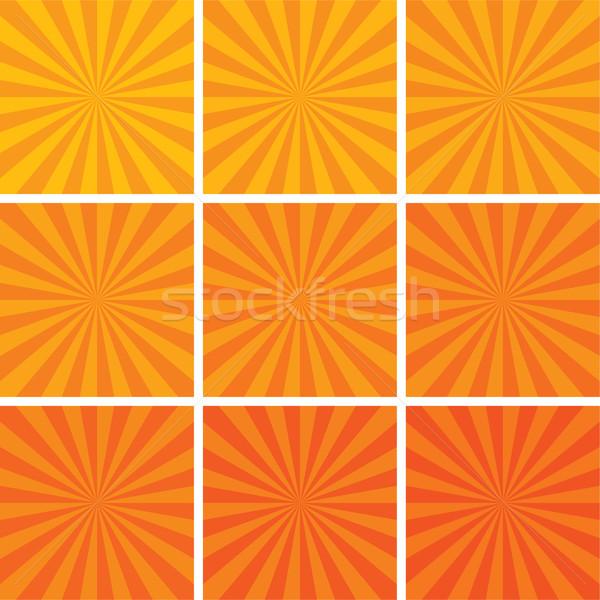 Vettore retro set texture sole design Foto d'archivio © freesoulproduction