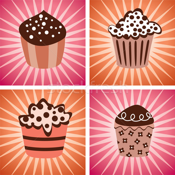 vector cupcakes Stock photo © freesoulproduction