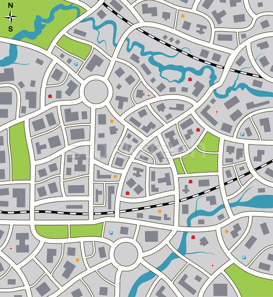 vector abstract city map Stock photo © freesoulproduction