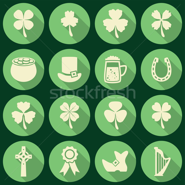 vector set of irish St. Patrick's Day icons Stock photo © freesoulproduction