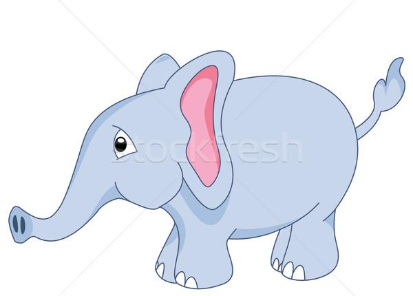 ребенка слон вектора clipart тело синий Сток-фото © freesoulproduction