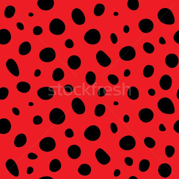 vector  ladybug polka dot background Stock photo © freesoulproduction