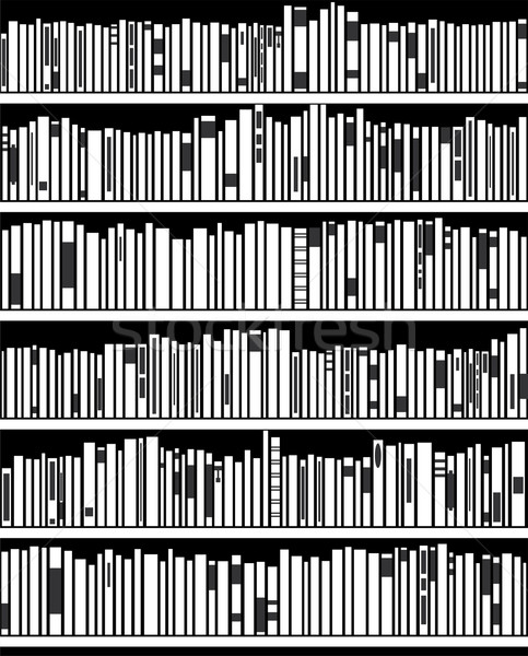 vector abstract black and white bookshelf  Stock photo © freesoulproduction