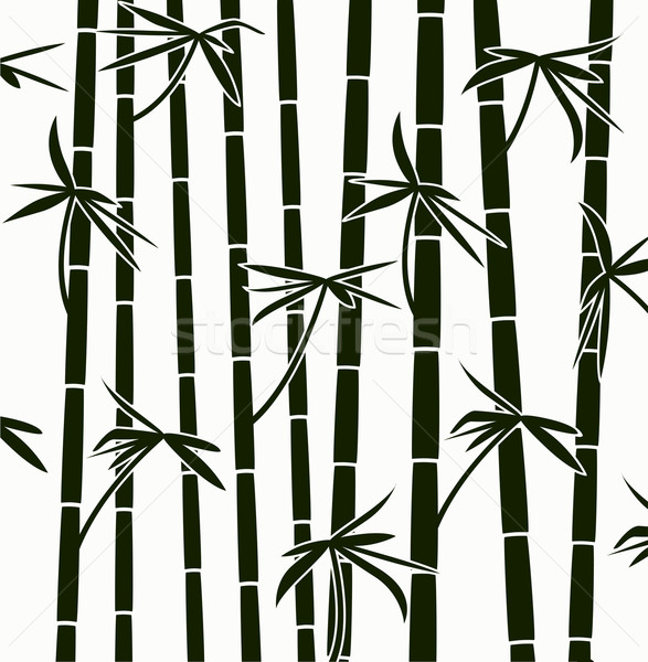 vector  bamboo shoots background pattern Stock photo © freesoulproduction
