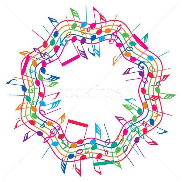 Vettore colorato note musicali ondulato raccolta abstract Foto d'archivio © freesoulproduction