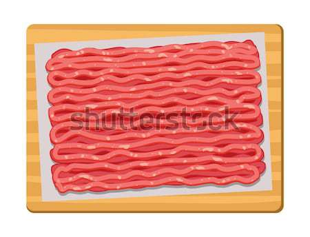 vector minced meat in plastic tray Stock photo © freesoulproduction