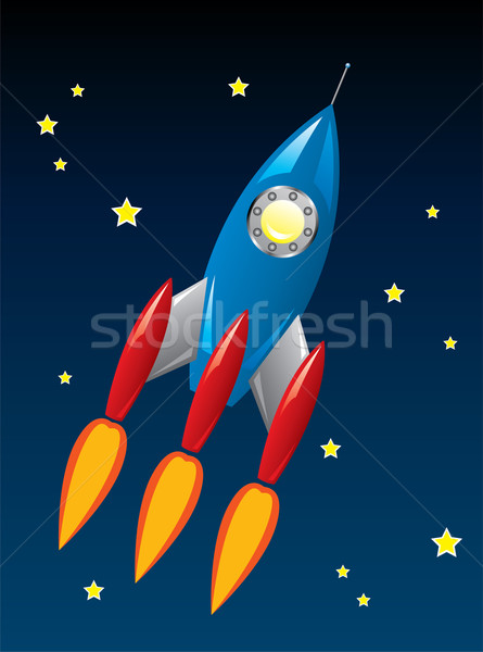 Cohete buque espacio vector estilizado retro Foto stock © freesoulproduction