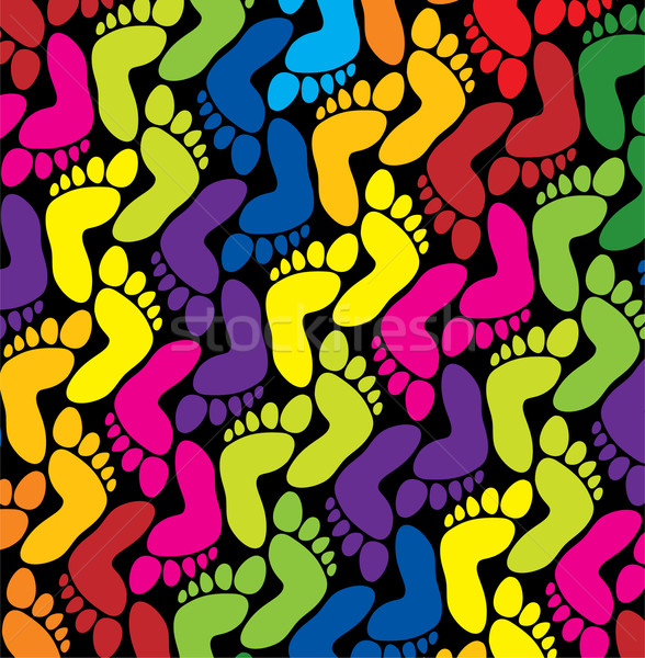 vector colorful feet background Stock photo © freesoulproduction