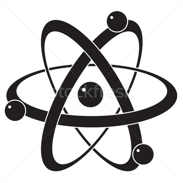 Vektor absztrakt tudomány ikon szimbólum atom Stock fotó © freesoulproduction