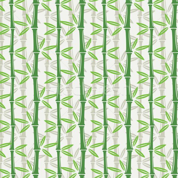 Zdjęcia stock: Wektora · bezszwowy · bambusa · tapety · tekstury · drzewo