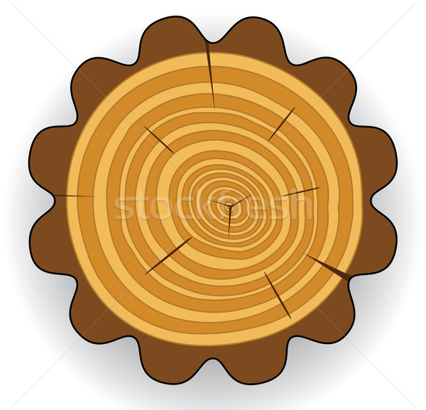 Vector houten gesneden clipart bloem boom Stockfoto © freesoulproduction