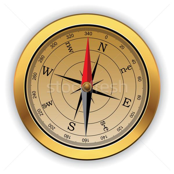 Stockfoto: Vintage · kompas · vector · kaart · zee · wereld