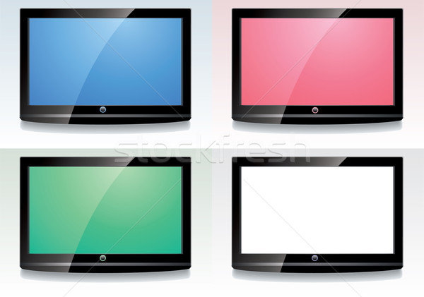 Vector establecer LCD colorido ordenador Internet Foto stock © freesoulproduction