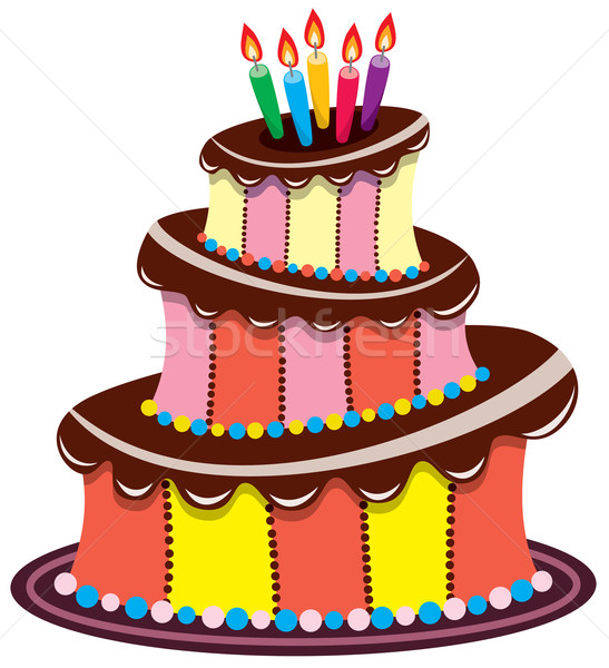 vector birthday chocolate cake  Stock photo © freesoulproduction