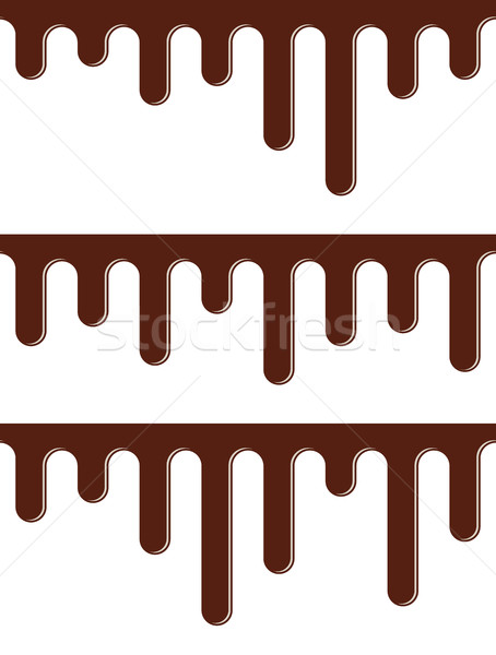 vector seamless background set of melting chocolate streams Stock photo © freesoulproduction