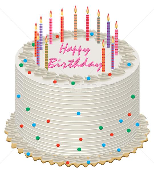 Vector Birthday Cake Vector Illustration Dmitry Merkushin