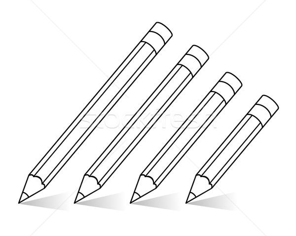 Vettore clipart matite legno sfondo college Foto d'archivio © freesoulproduction