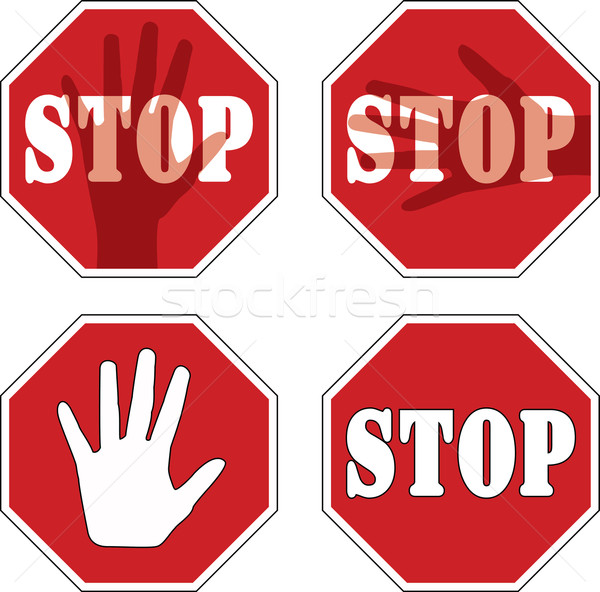 vector stop signs Stock photo © freesoulproduction