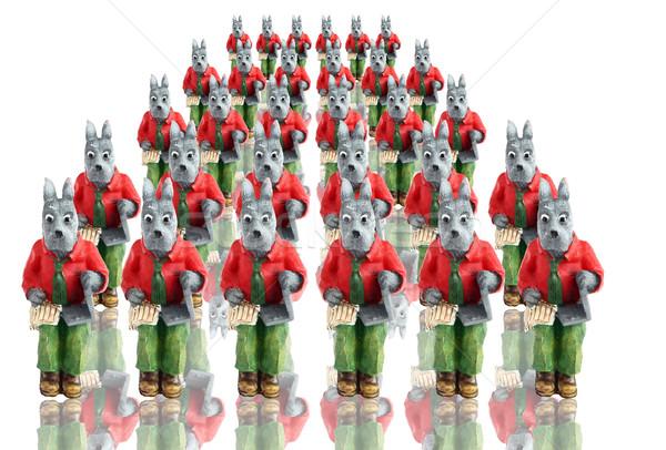 Profesyoneller iş kalabalık yeşil defter takım Stok fotoğraf © freesoulproduction