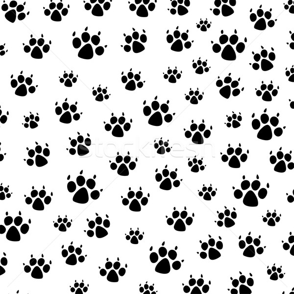 vector dog foot prints background pattern Stock photo © freesoulproduction
