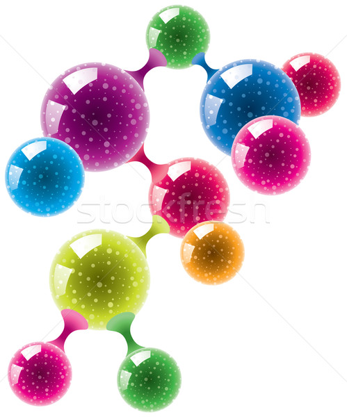 abstract molecule or microbe  Stock photo © freesoulproduction