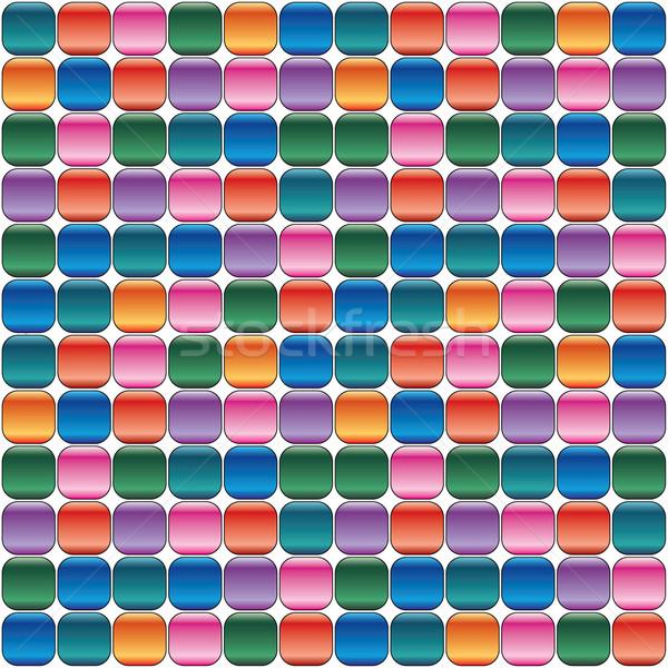 Photo stock: Vecteur · coloré · tuiles · résumé · lumière · verre