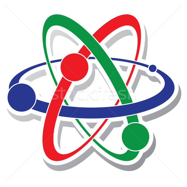 vector  icon of atom Stock photo © freesoulproduction