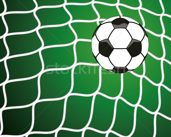 vector  soccer ball in net, goal symbol Stock photo © freesoulproduction