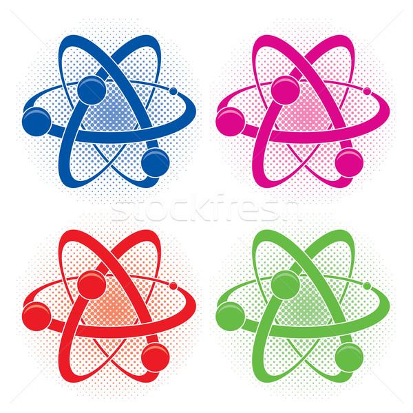 Vetor abstrato médico química símbolo átomo Foto stock © freesoulproduction