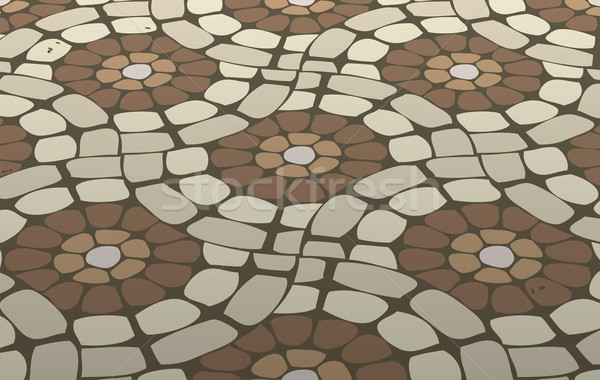 vector tile mosaic floor, stone background pattern  Stock photo © freesoulproduction