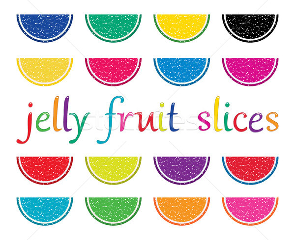 vector set of colorful fruit jelly slices  Stock photo © freesoulproduction