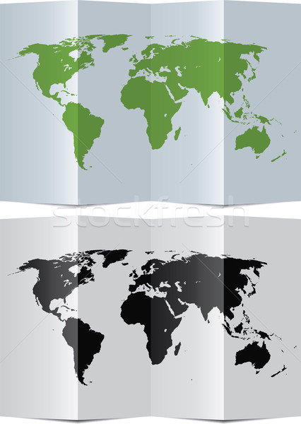 abstract world map on folded paper Stock photo © freesoulproduction