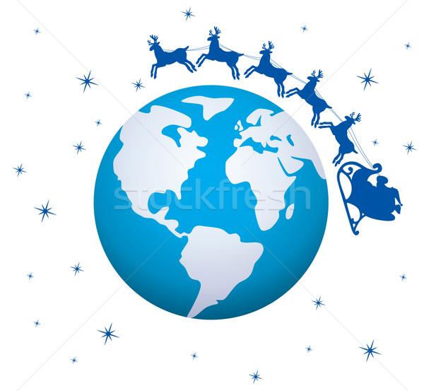 vector holiday background with santa Stock photo © freesoulproduction