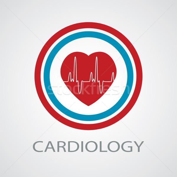 вектора человека сердце медицинской символ кардиология Сток-фото © freesoulproduction
