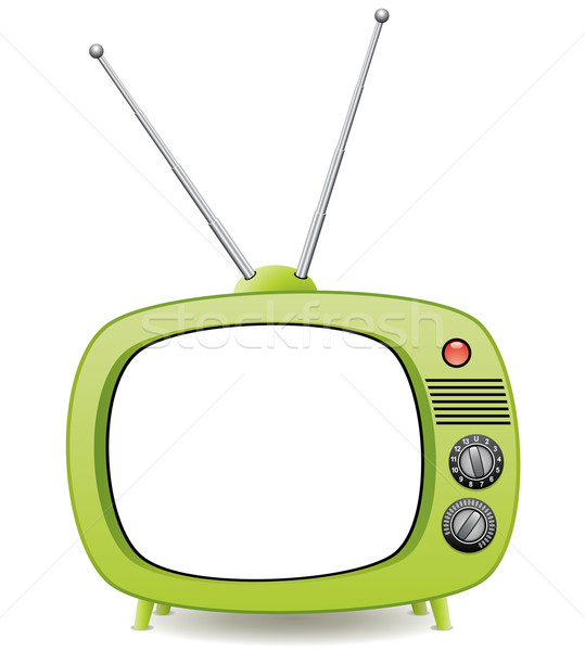 green retro tv set Stock photo © freesoulproduction