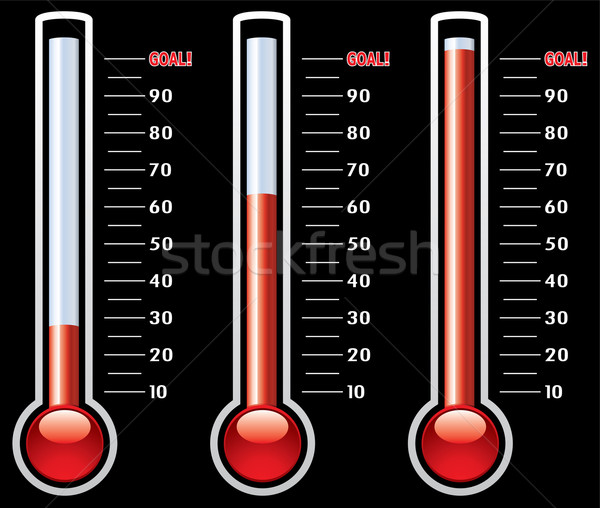 vector thermometers at different levels  Stock photo © freesoulproduction
