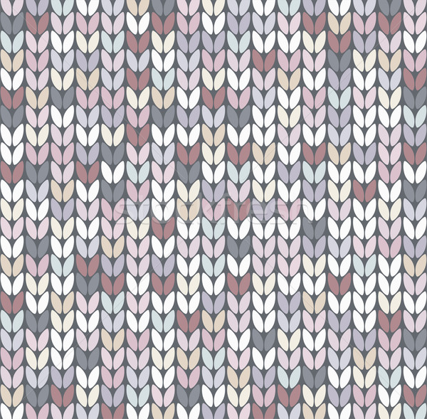 vector abstract knit pattern Stock photo © freesoulproduction