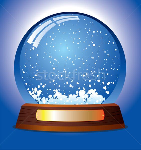 Stock photo: snow globe