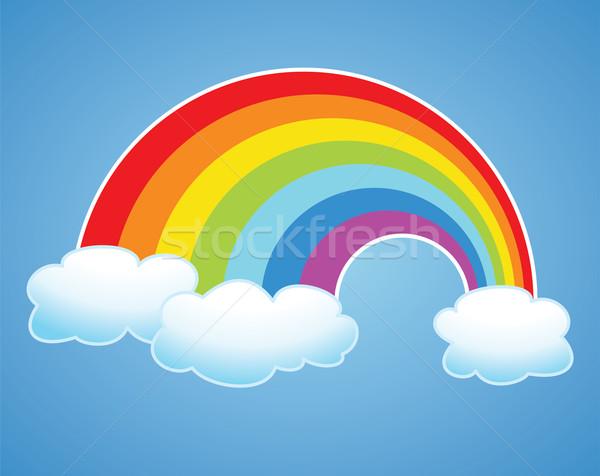 Vettore Rainbow nubi cielo simbolo acqua Foto d'archivio © freesoulproduction