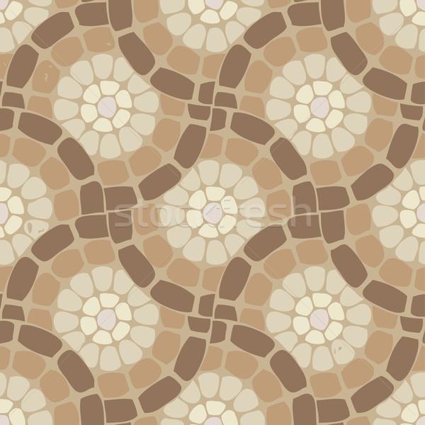 вектора плитка мозаика полу каменные шаблон Сток-фото © freesoulproduction