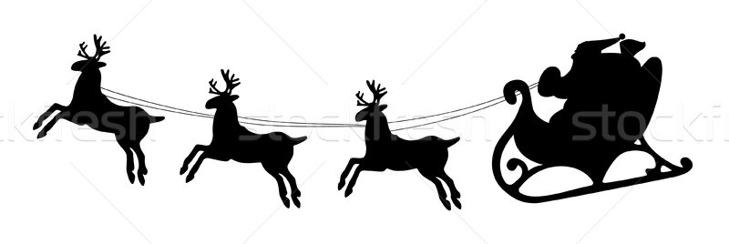 santa and deers Stock photo © freesoulproduction