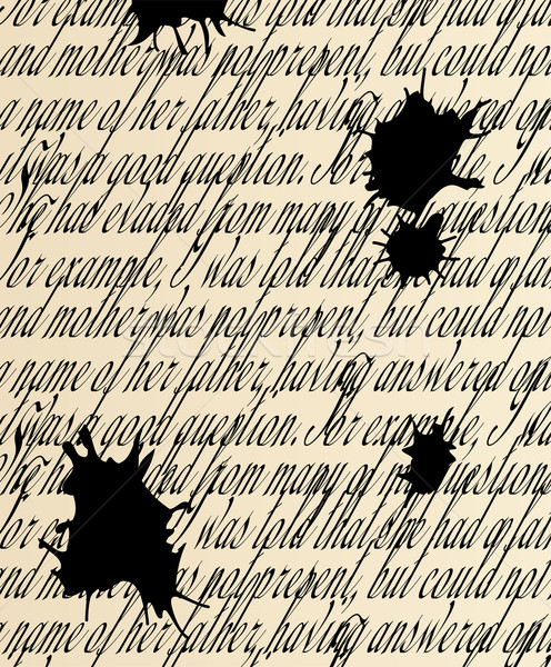 vector handwritten text with blots Stock photo © freesoulproduction
