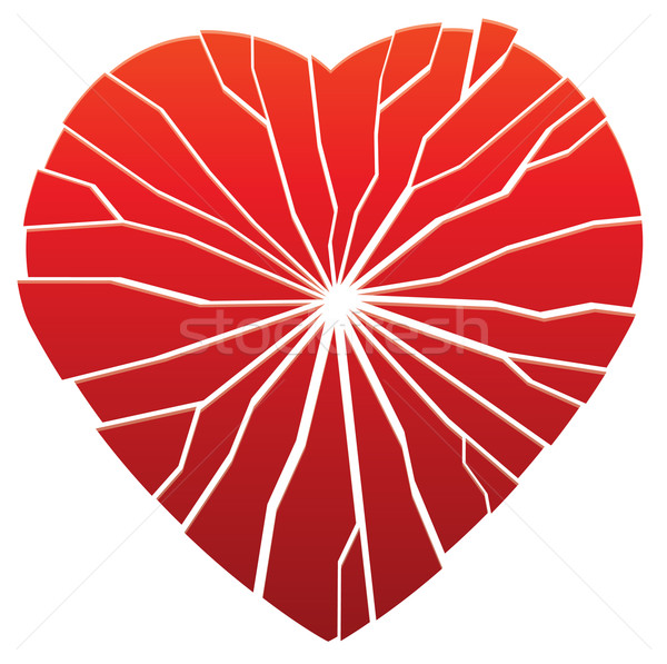 vector broken heart Stock photo © freesoulproduction